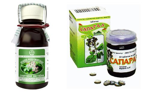 Настойка и таблетки из аралии