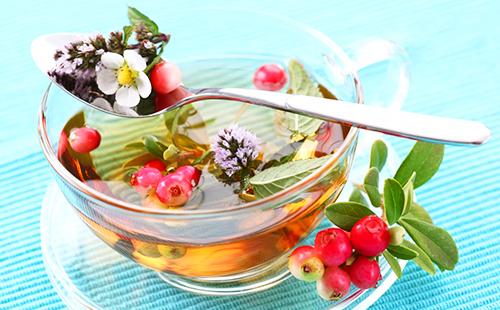 Душистый чаёк из листьев и ягод