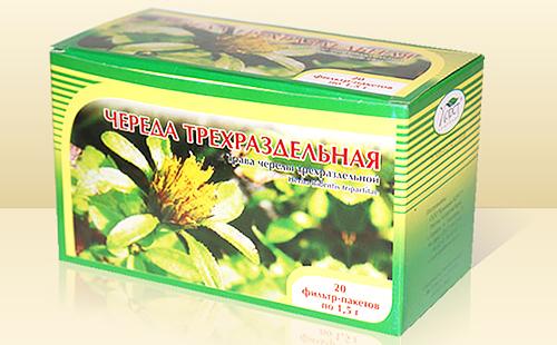 Готовое сырьё в зелёной коробке с фотографией цветка