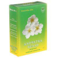 Чай с белыми цветами на упаковке