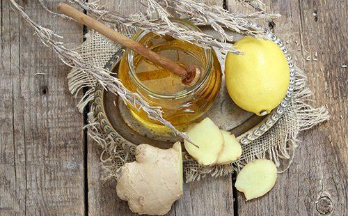 Лимон, мед имбирь
