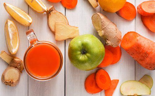 Яблоко, морковь и имбирь