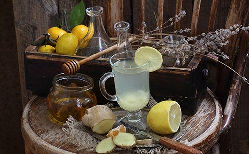 Напиток имбирный с лимоном