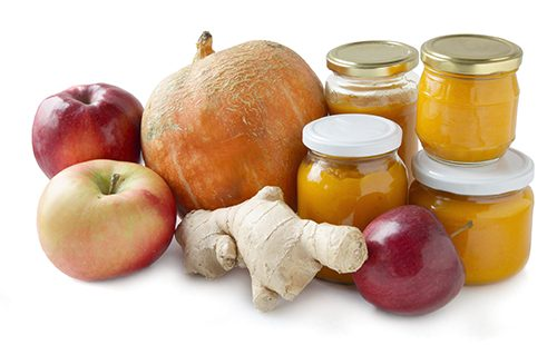 Тыква, яблоки, имбирь