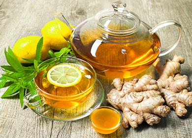 Как заваривать имбирный чай