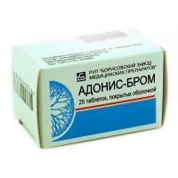 Популярный адонис-бром в таблетках