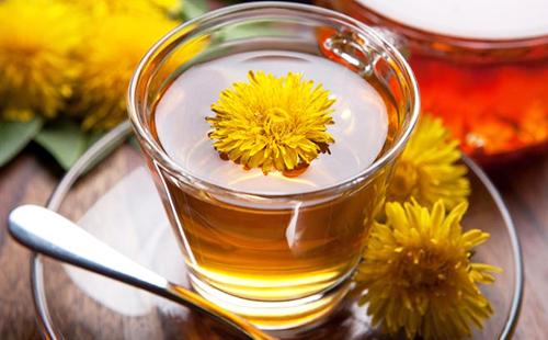 Стакан чая из дикого молочая
