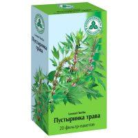 Трава глухой крапивы в зелёной коробке
